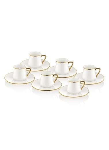 The Mia Kahve Fincanı Seti - 6 Kişilik Gold Altın